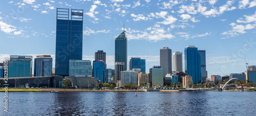 Downtown Perth City Skyline. A wonderful view to Perth with the Swan River in front.