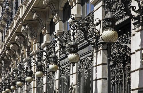 Fragment of building in Madrid. Spain