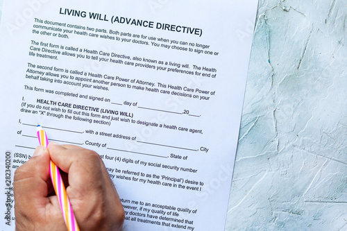 Living Will Advance Directive Canvas Print