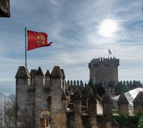 The Castle of Almodóvar del Río, a restored castle near Cordoba, Spain Canvas Print
