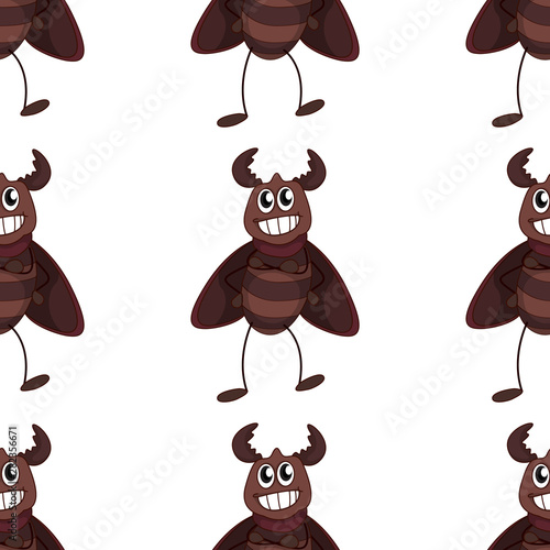 Photo Stands Kids Seamless pattern tile cartoon with beetle