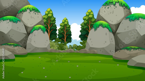 In de dag Kids Empty background nature scenery