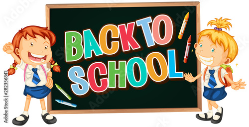 In de dag Kids Back to school sign theme