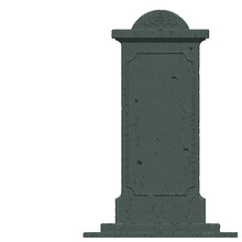 An Isolated Gravestone On Transparent Background