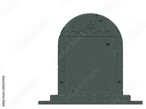 An isolated gravestone on transparent background Fototapete