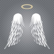 Angel Wings With Nimbus