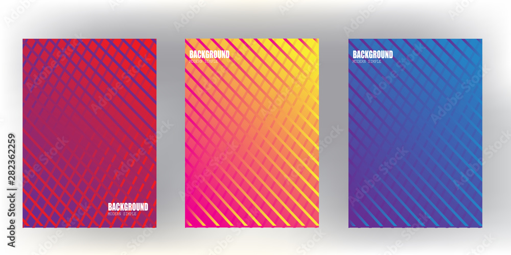 Fototapeta l covers design with Colorful halftone gradients.background template design