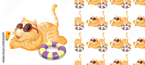 In de dag Kids Seamless and isolated animal pattern cartoon