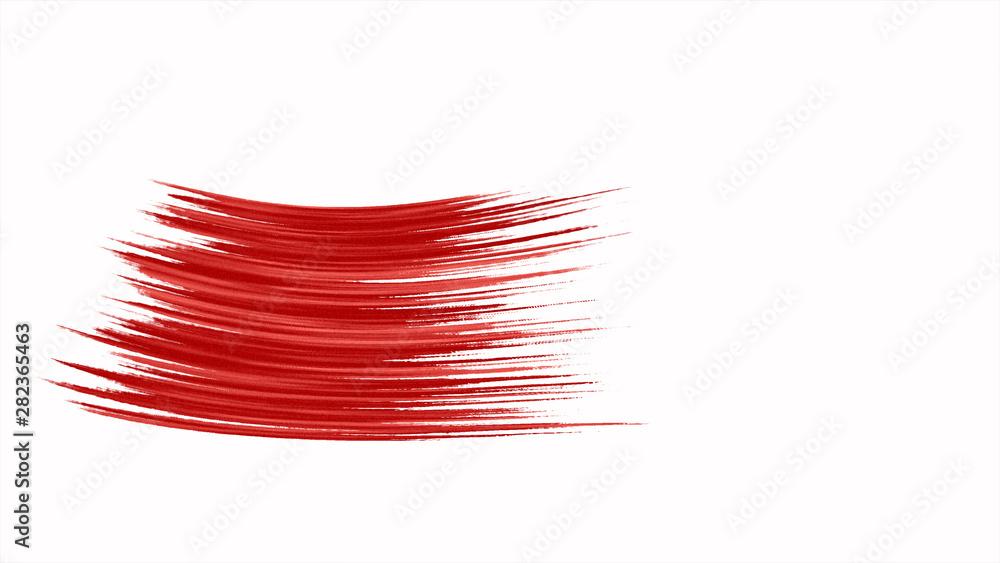Fototapety, obrazy: Oil paint Brush Stroke animation 3d render