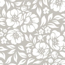 Seamless Vector Floral Wallpap...