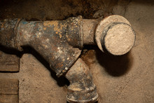 Worn Out Rusty Water Pipe In A...