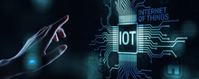 IOT Internet Of Things Digital Transformation Modern Technology Concept On Virtual Screen.