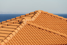 Red Tiles Roof Texture Architecture ,