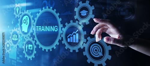 Stampa su Tela  Training Online Education Webinar Personal Development Motivation E-learning Business concept on virtual screen