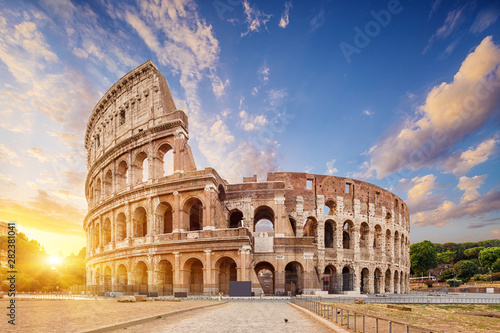 Coliseum or Flavian Amphitheatre (Amphitheatrum Flavium or Colosseo), Rome, Italy Wallpaper Mural