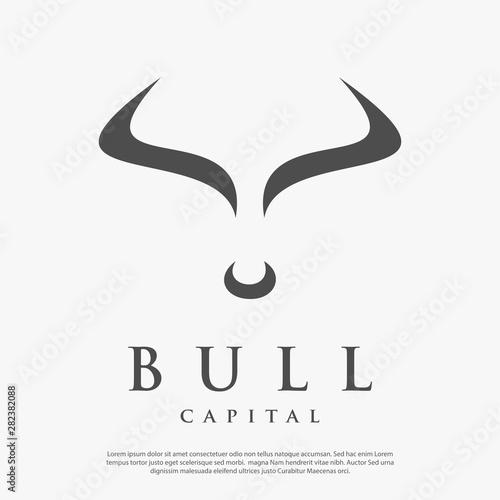 bull capital logo vector simple minimalist Poster Mural XXL
