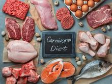 Carnivore Diet Concept. Raw In...