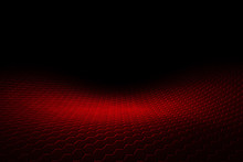 Red Hexagon Background And Tex...