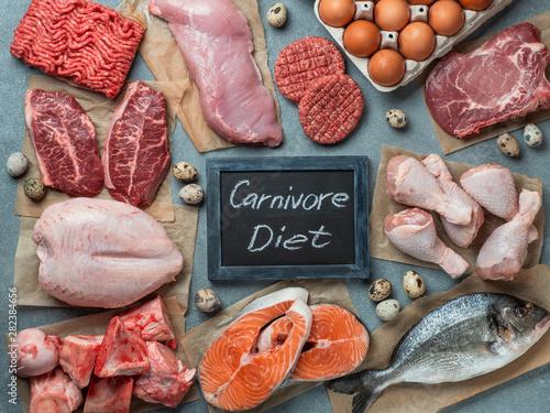 Photo Carnivore diet concept