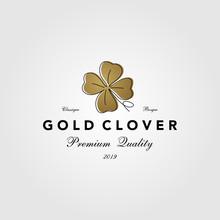 Vintage Gold Clover Leaf Logo ...