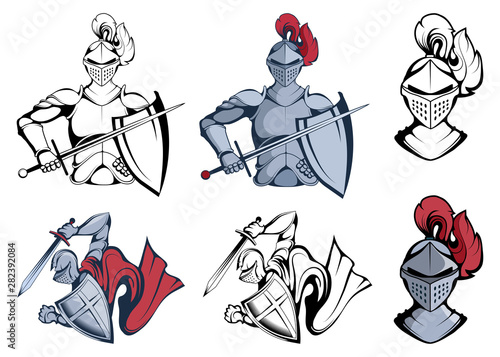 Photo  Knight Warriors in different poses