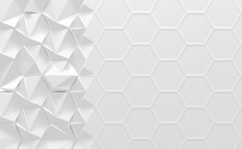White Geometrical Morphing Background (3d Illustration)