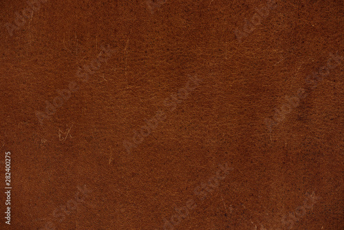 Close up brown genuine leather texture background