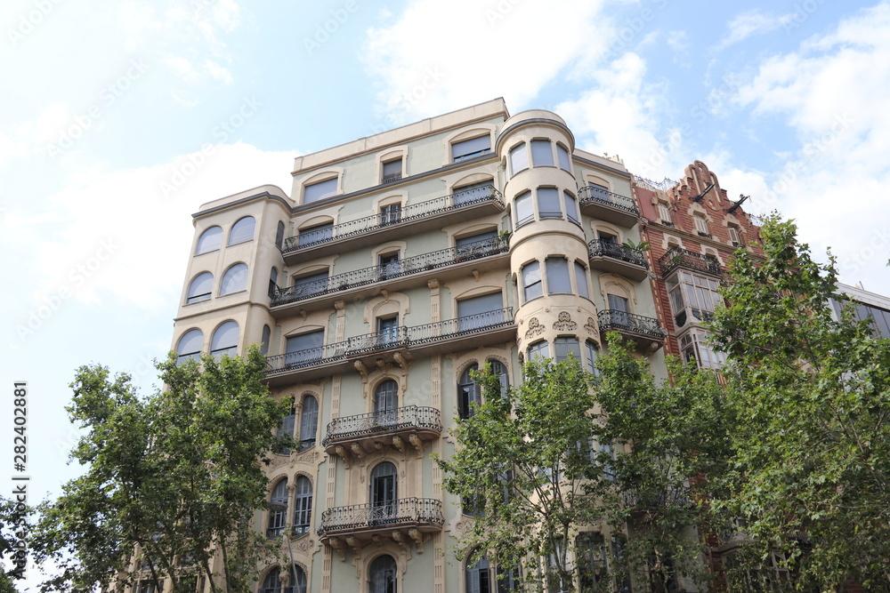 Fototapeta Barcelone - Immeuble