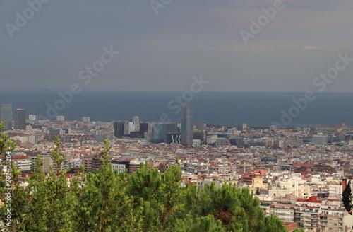 Barcelone - Paysage Canvas Print