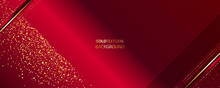 Dark Red And Gold Abstract Bac...