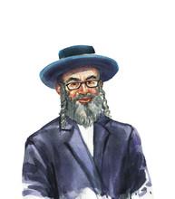Watercolor Realistic Male Portrait