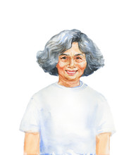 Watercolor Realistic Female Portrait