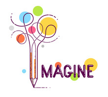 Imagine Word With Pencil Inste...