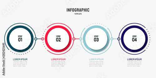 Cuadros en Lienzo Timeline infographic design element and number options
