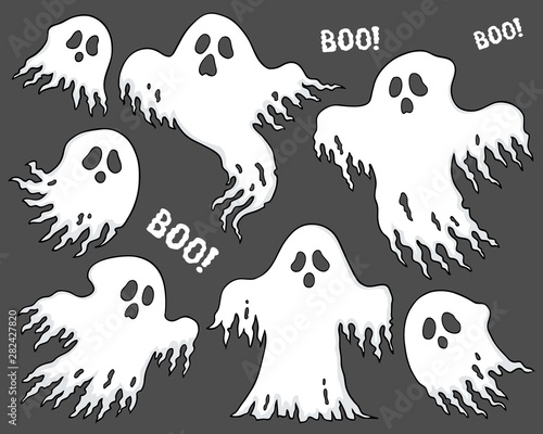 Poster de jardin Enfants Ghosts thematic set 7