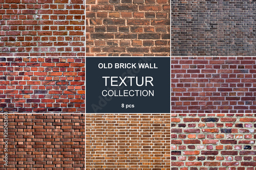 Brick wall texture collection - 8 psc - Buy this stock photo