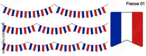 Fotografía  フランスの国旗のガーラーンド ベクターデータ(bunting garland)