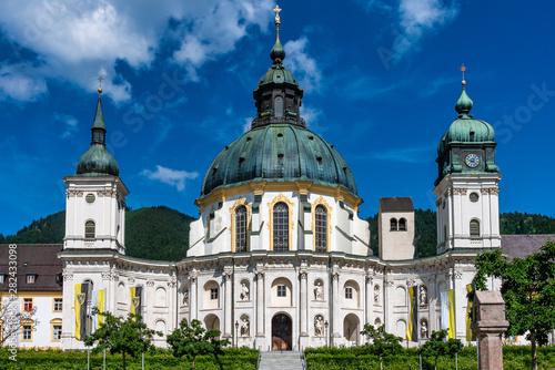 Ettal Abbey, Kloster Ettal near Oberammergau in Bavaria, Germany. Wallpaper Mural