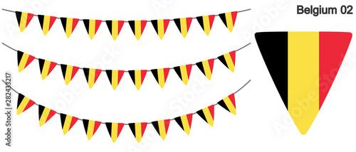 Pinturas sobre lienzo  ベルギーの国旗のガーラーンド ベクターデータ(bunting garland)