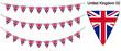 イギリスの国旗のガーラーンド ベクターデータ(bunting garland)