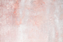 Old Distressed Pink Wall Background Or Texture