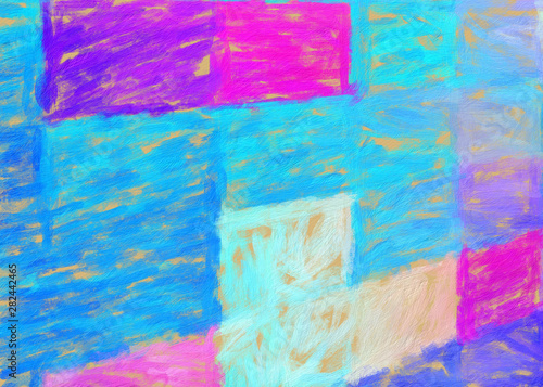 Autocollant pour porte Empreintes Graphiques Pretty bright colors abstract background, fashion art print pattern with fractal elements and geometric effects, design backdrop for fabric and textile, beautiful cover, flyer, card and web advertise