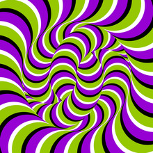 Ball Of Snakes. Spin Illusion.