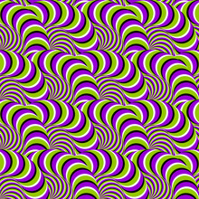 Ball Of The Coiling Snakes. Motion Illusion. Seamless Pattern.