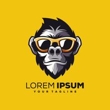 Awesome Cool Monkey Logo Design