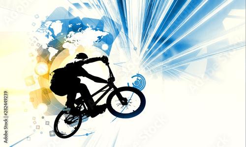 Fotografia Sport illustration of bmx rider