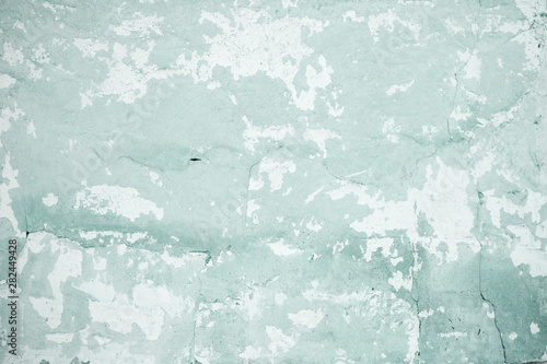 Fotomural  old blue-green chipping wall background