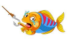 Crying Fish On Fish Hook