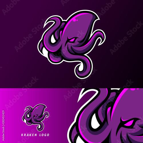 kraken octopus squid mascot sport esport logo template buy this stock vector and explore similar vectors at adobe stock adobe stock kraken octopus squid mascot sport