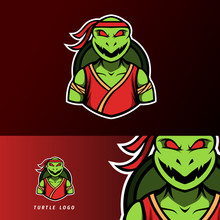 Angry Ninja Turtle Mascot, Sport Esport Logo Template